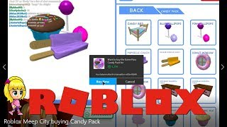 Roblox Meep City buying Candy Pack