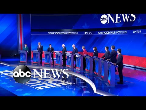 Democrats clash over health care at 2020 debate l ABCNews thumbnail
