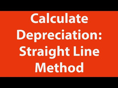 How to calculate depreciation using the straight line method in