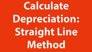 How to calculate depreciation using the straight line method in Excel