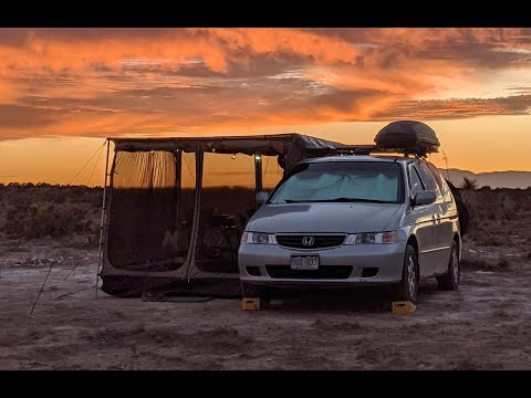 VERSATILE Minivan Camper Tour! Awning, Deluxe Room, Diesel Heater, Solar and Much More