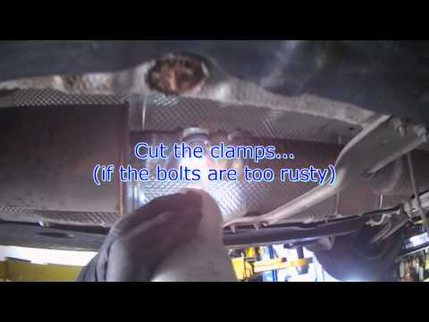 VW A5: 2.5L BGP Catalytic Converter removal