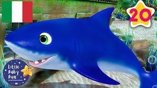 Baby Shark In Italiano | 20 Minuti di Canzoncine | Little Baby Bum Italia | #canzoniperbambini