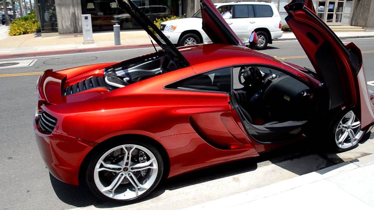 Volcano Red Mclaren Mp4 12c Mclaren Newport Beach Youtube