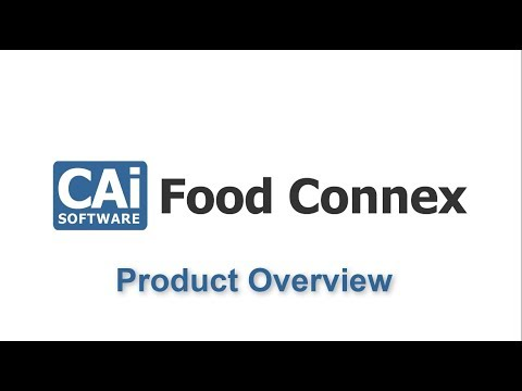 Food Connex Cloud - Product Overview