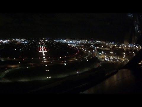 Cockpit View Canarsie Approach JFK Airport New York Runway 13L
