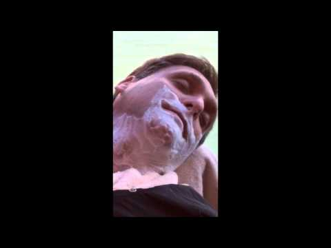 Expert Straight Razor Shave -- Short Clip (with the grain)
