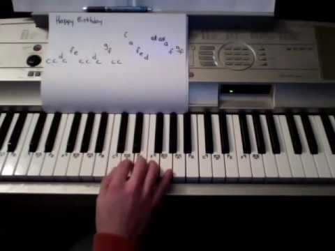 How to Play Happy Birthday on the Piano (Super Easy) - YouTube