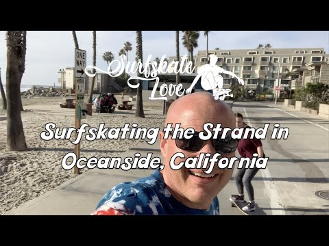 Surfskating the Strand in Oceanside, California on the YOW Malibu