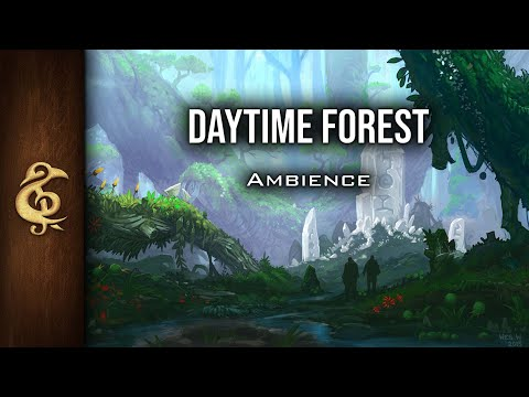 🎧 RPG / D&D Ambience - Daytime Forest | Nature, Immersive, Birds, Animals, Fantasy