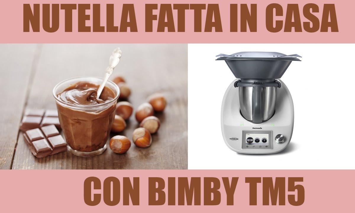 Ricetta Nutella Per Bimby.Ricetta Nutella Fatta In Casa Bimby Tm6 Tm5 Tm31 Youtube