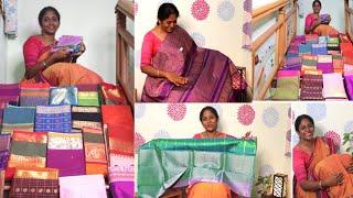 இதுவரை பார்க்காத Vegan silks Sarees | நம்ம வீட்டு தீபாவளிக்கு புடவை வாங்கலாம்💃| 25 Sarees shopping..