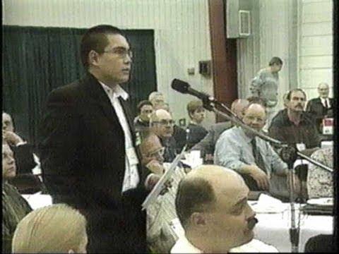 Brendan Cross joins The Saskatchewan Party in Saskatoon CBC 1999