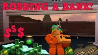 Roblox greek Jailbreak gameplay: robbing the Bank and catch criminals!