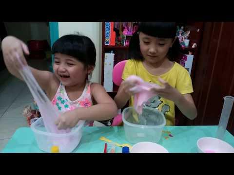 Hai chi em làm Slime (Chat nhon ma quai) * Bao Minh Channel