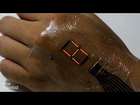 Super-thin digital display turns your skin into a screen