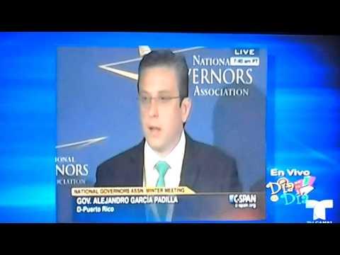 """AGP hace el Ridiculo de nuevo reunión de gobernadores en Washington """"No Sabe Ingles"""""""