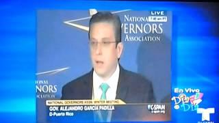 agp hace el ridiculo de nuevo reunin de gobernadores en washington no sabe ingles