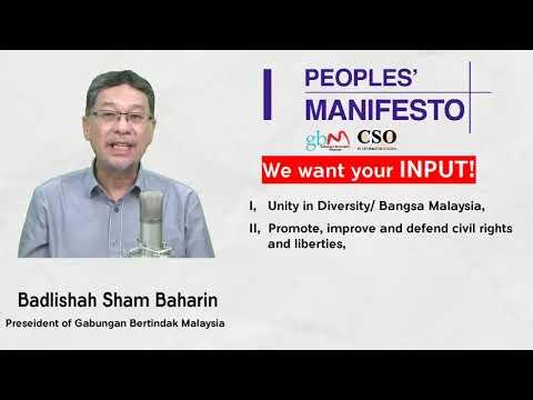 Manifesto Rakyat Mahukan Input Anda!