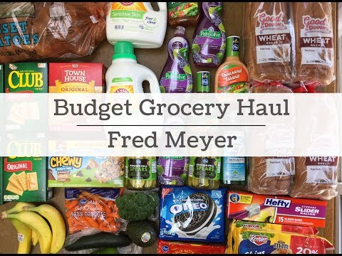 Budget Grocery Haul, Fred Meyer Shopping Haul