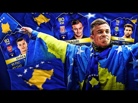 OMG CAPTAIN KOSOVO XHERDAN SHAQIRI AND THE ULTIMATE KOSOVO LEGENDS DREAM TEAM! FIFA 16 ULTIMATE TEAM