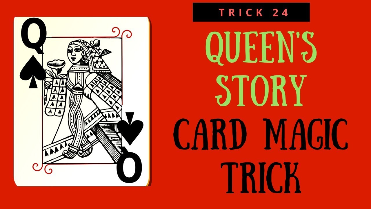 queen's story  easy card magic trick for beginners learn