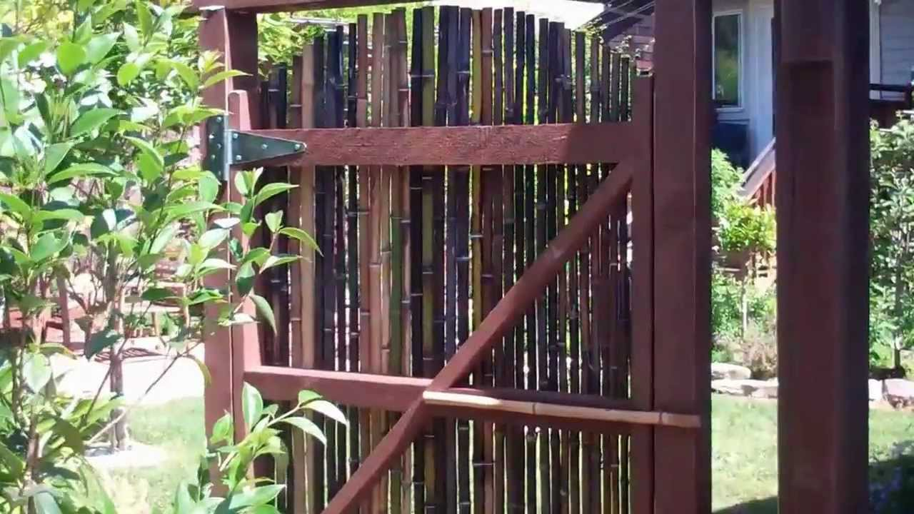 A Bamboo Gate In Palo Alto Youtube