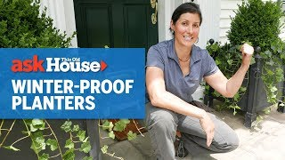 How To Install Winter-proof Planters   Ask This Old House