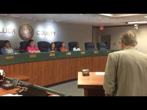 Gulfview Middle School Holds Mock Commission Meeting