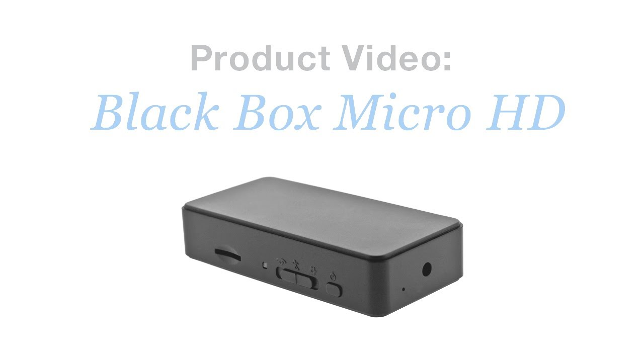 The Black Box Micro HD Hidden Camera DVR - YouTube