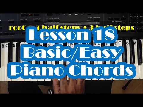 Basic Piano Chords Beginner Piano Lesson 18 How To Play Easy