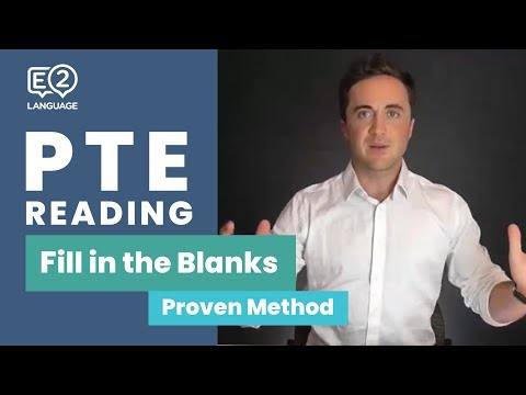 PTE Reading: Fill in the Blanks | Learn the Proven Method!
