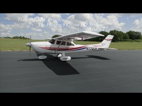 Hangar 9 Cessna 182 SkyLane Maiden Flight