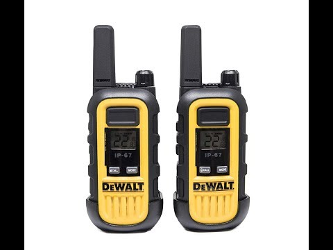 Dewalt DXFRS300 Rechargeable 2-Way Radios For The Job Site