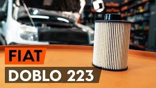 Come cambiare Filtro combustibile FIAT DOBLO Cargo (223) - video tutorial