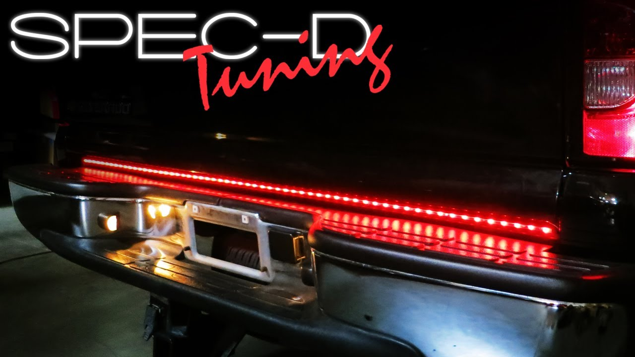 Specdtuning installation video universal truck led tailgate light specdtuning installation video universal truck led tailgate light bar youtube aloadofball