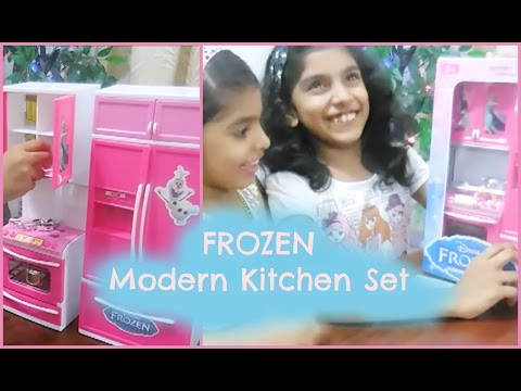 Unboxing Frozen Modern Kitchen Set - Amazon.in