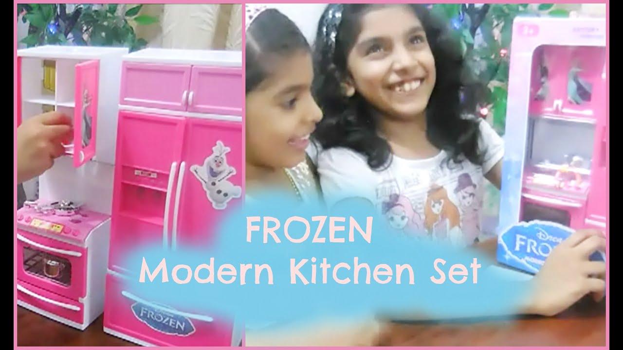 unboxing frozen modern kitchen set youtube