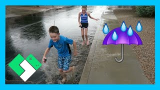 PUDDLE JUMPING IN THE RAIN (Day 1587)