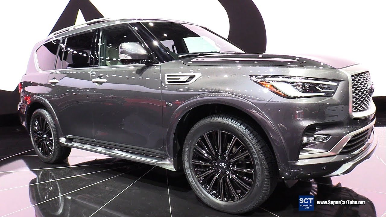 2020 Infiniti QX80 Redesign, Interior >> 2019 Infiniti Qx80 Limited Exterior And Interior Walkaround Debut 2018 New York Auto Show