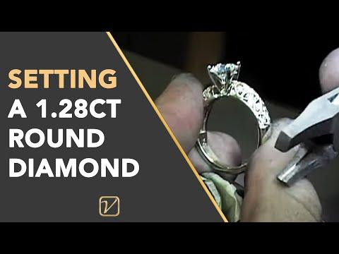 Diamond Rings | Setting A 1.28ct Round Diamond - Vanessa Nicole Jewels Diamond Rings
