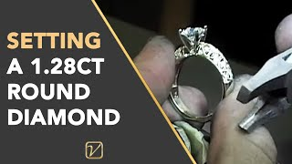 Diamond Rings | Setting A 1.28ct Round Diamond - Vanessa Nicole Jewels Diamond Rings