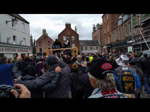 Bonfest 2017 - It's A Long Way To The Top... performed by Stinger in Kirriemuir, Scotland