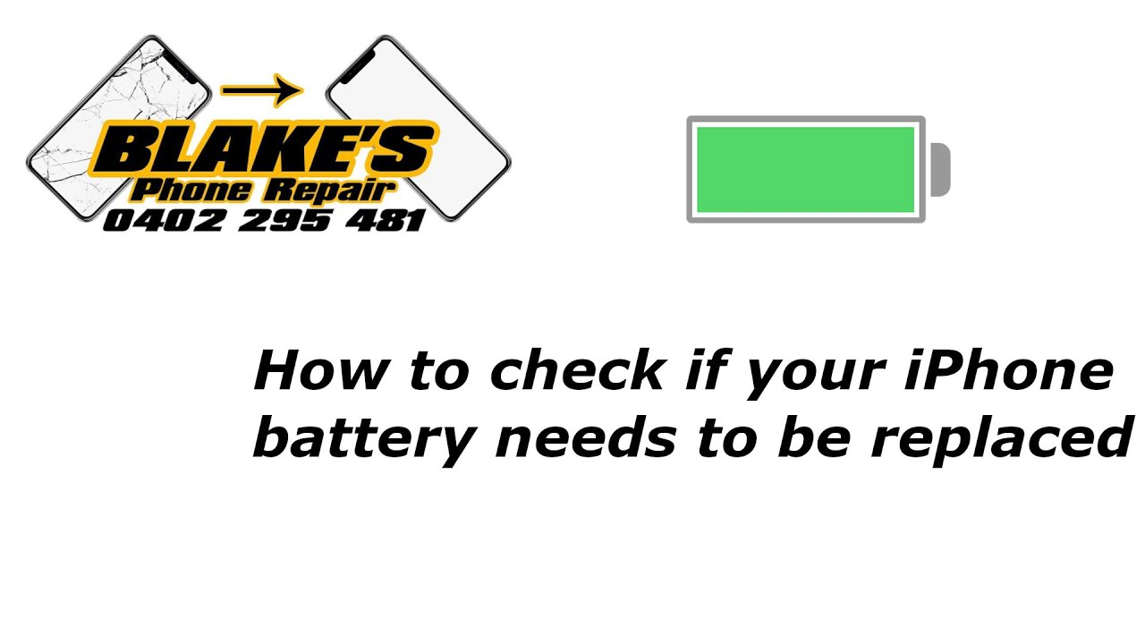 how to check if your iphone battery needs to be replaced