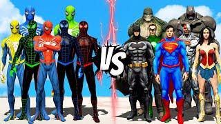 TEAM SPIDER MAN COLOR VS JUSTICE LEAGUE DC COMICS   EPIC BATTLE