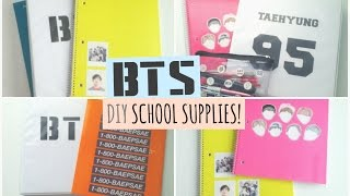 DIY Kpop School Supplies Collab // BTS Edition ♡