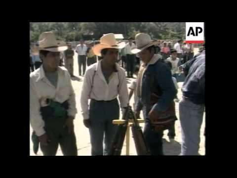 GUATEMALA: MAYAN INDIANS COMMEMORATE MASSACRE OF 13 VILLAGERS