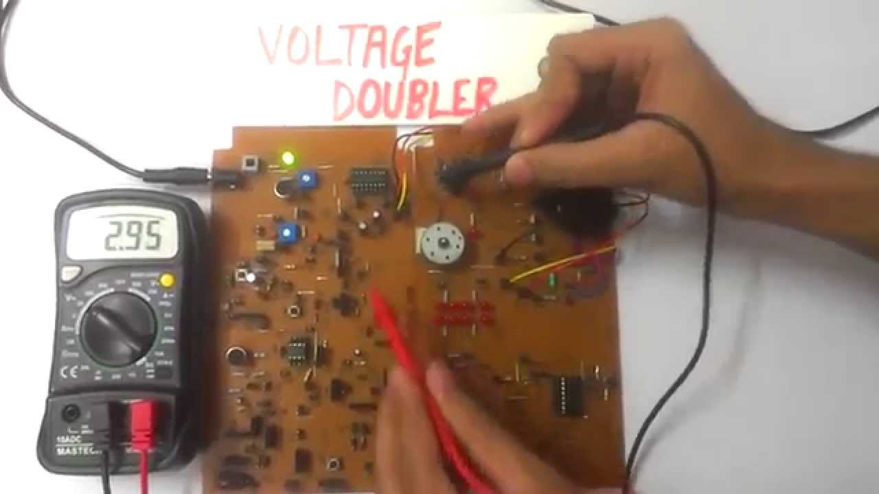 Voltage Doubler Using 555 Timer Ic Youtube Voltagecontrolled Oscillator Circuit 555circuit Premium