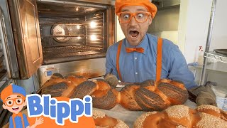 Blippi Visits The Bakery | Educational Videos For Kids | Learning Healthy Eating