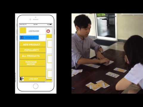 User interface design Project - Postcard Shop Test 3 shoppers